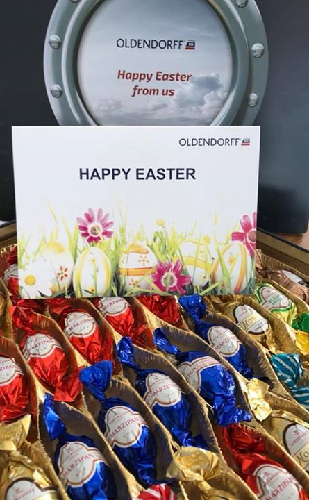 Many sincere thanks to Oldendorff Carriers for such a thoughtful gift . Happy Easter…